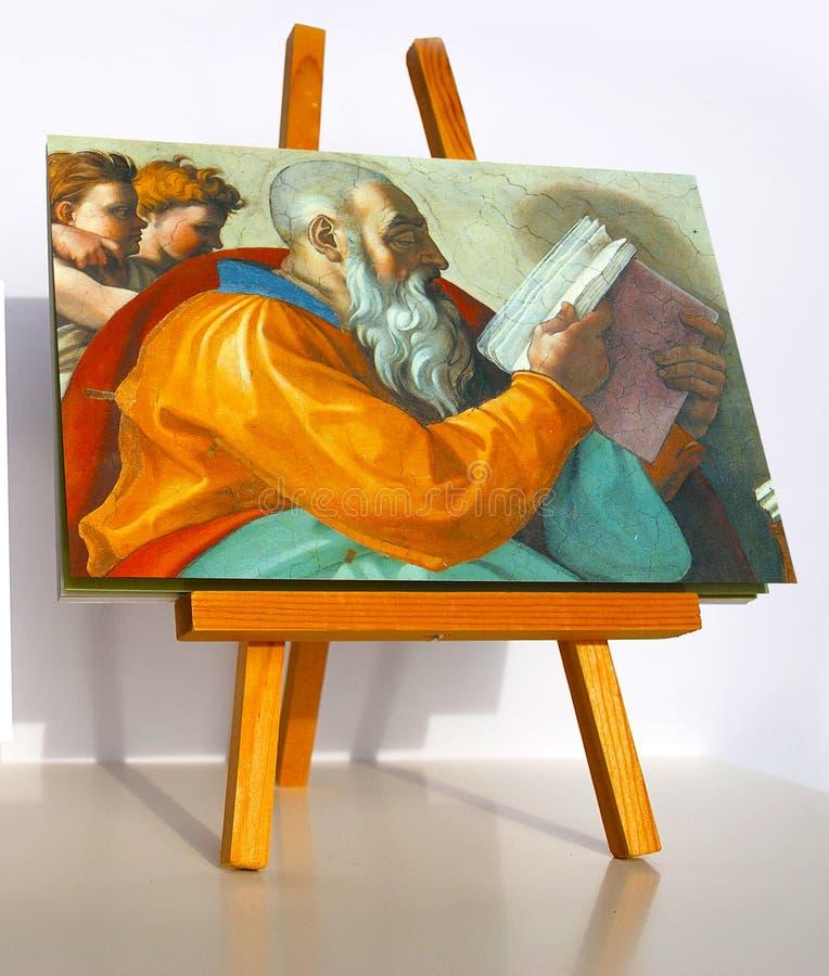 Profeta Zachariah dell'affresco di Michelangelo fotografia stock libera da diritti