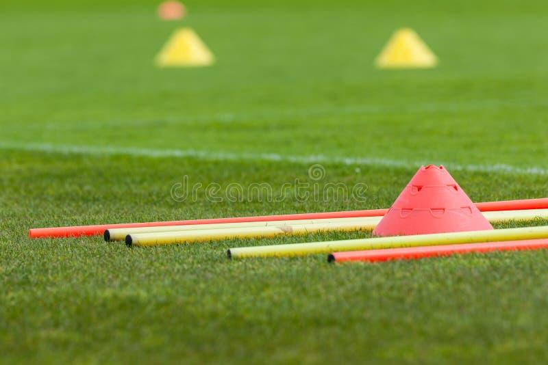 Proffesional橄榄球训练 免版税图库摄影