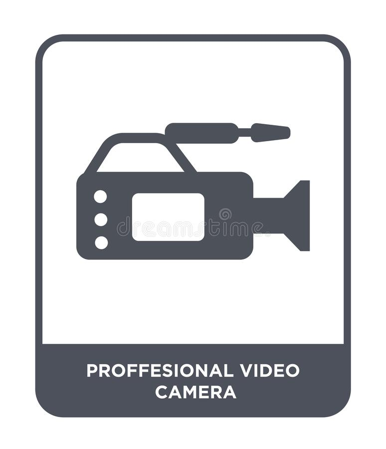 proffesional video camera icon in trendy design style. proffesional video camera icon isolated on white background. proffesional stock illustration