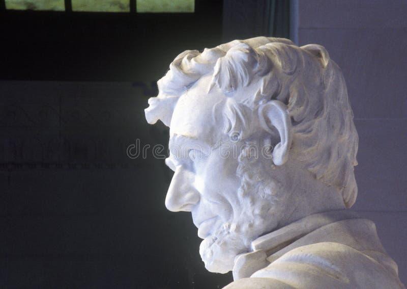 Profiel van Abraham Lincoln in Lincoln Memorial Washington D C royalty-vrije stock afbeelding