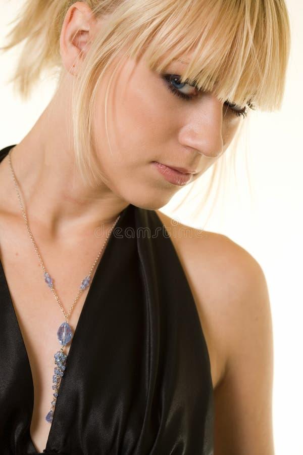 Profiel van blond meisje stock fotografie