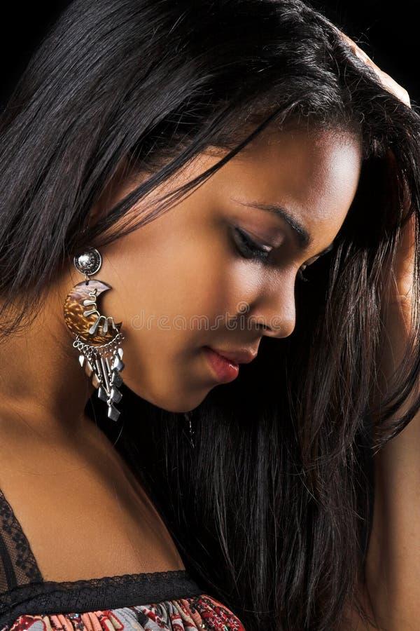 Profiel van vrouw royalty-vrije stock fotografie
