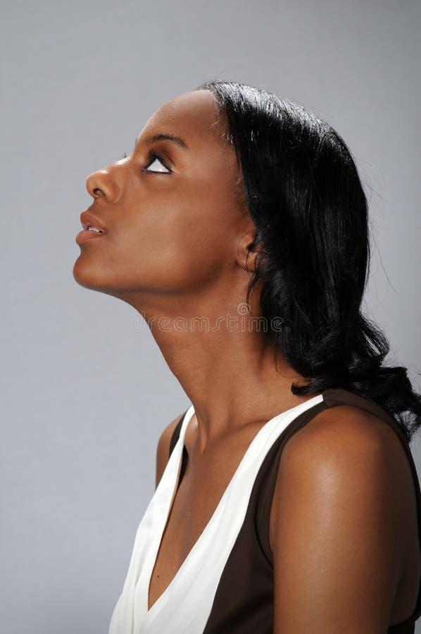 Profiel van Vrouw stock foto's