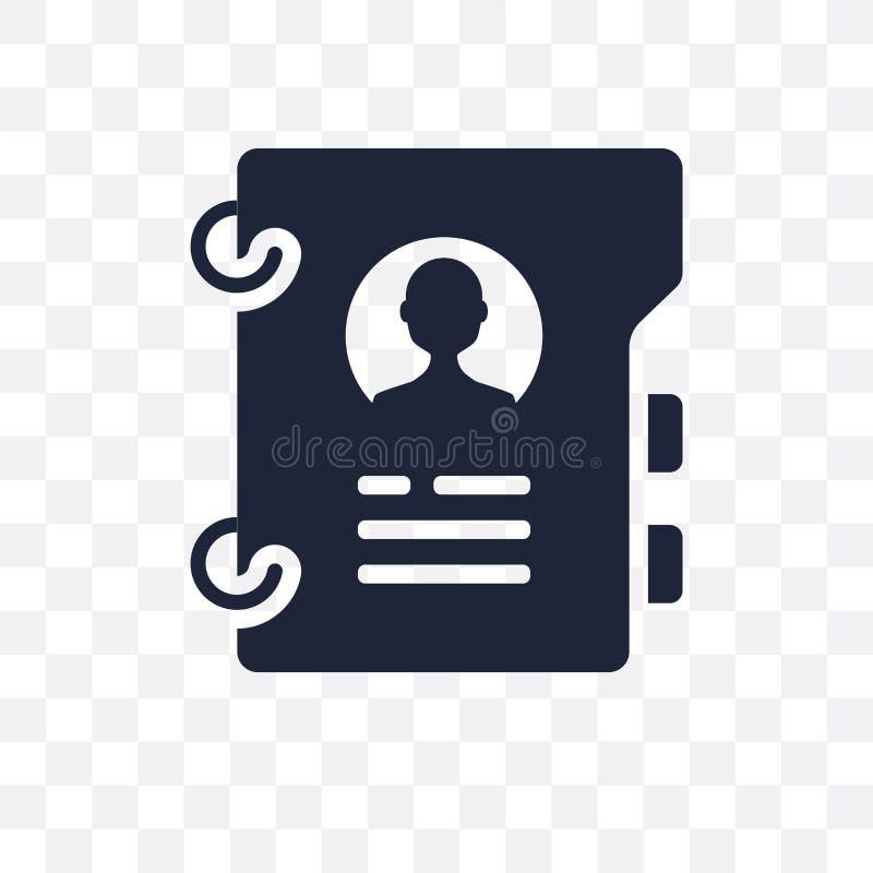 Profielen transparant pictogram Het ontwerp van het profielensymbool van Menselijk onderzoek royalty-vrije illustratie