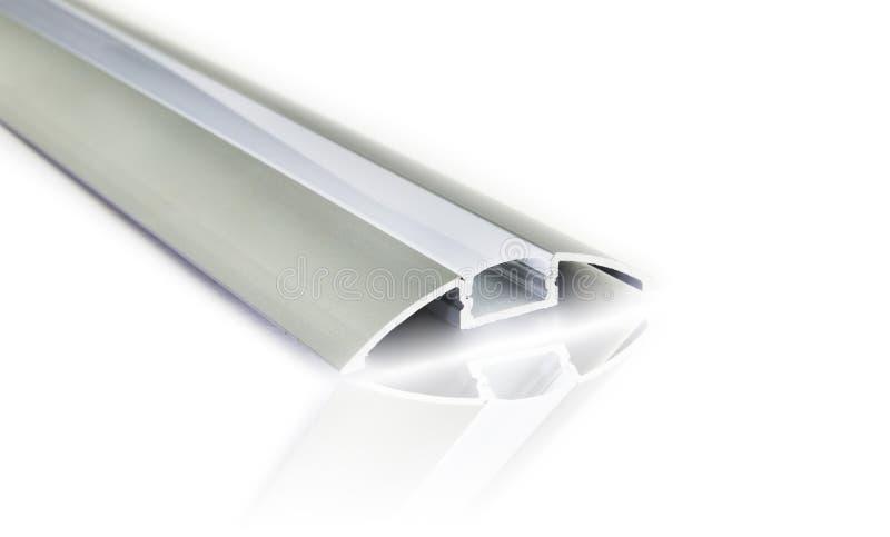 Profielen van het lusje de lichte aluminium stock foto