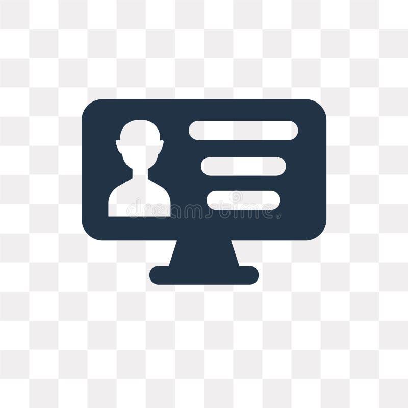 Profielen vectordiepictogram op transparante achtergrond, Profiel wordt geïsoleerd royalty-vrije illustratie