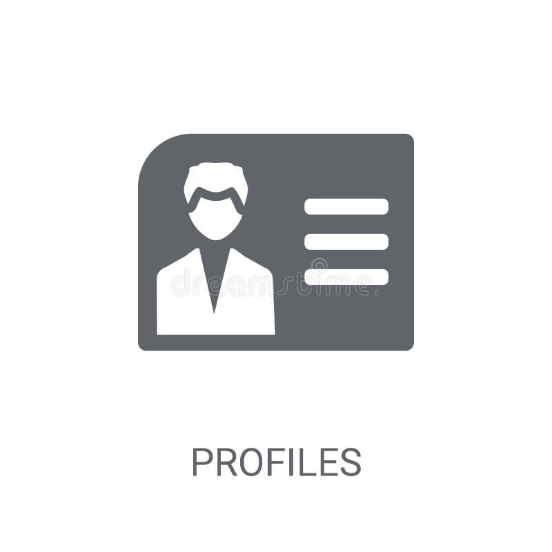 Profielenpictogram Het in concept van het Profielenembleem op witte achtergrond vector illustratie