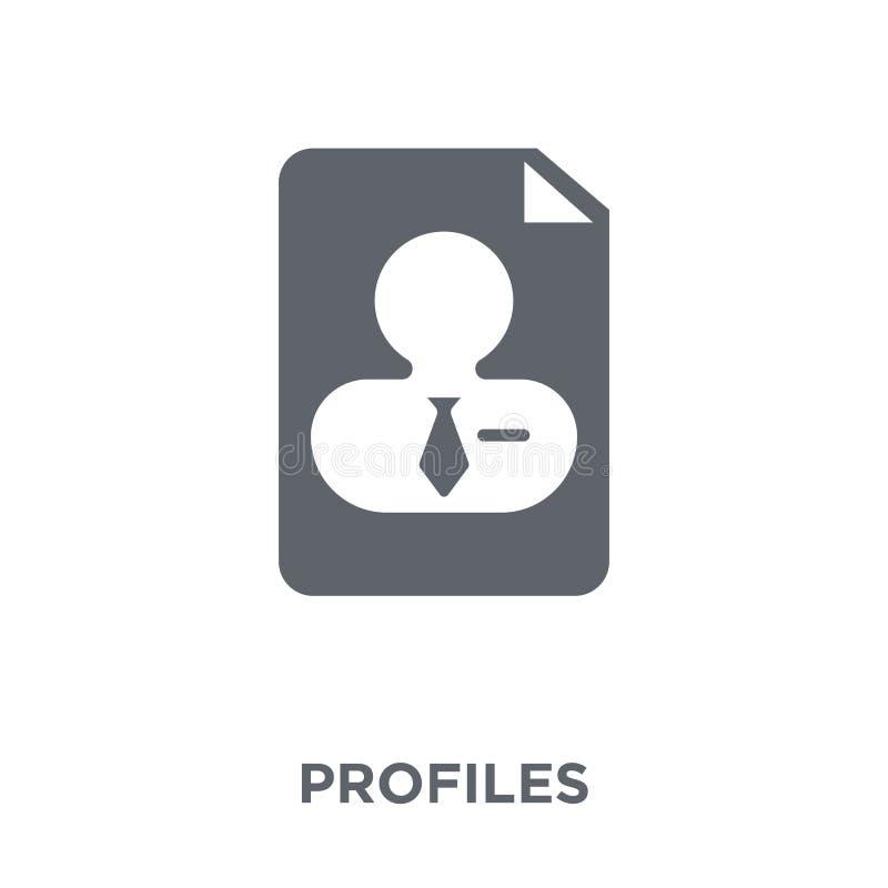 Profielenpictogram van Personeelsinzameling stock illustratie