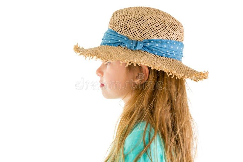 Profielportret van een in 6 éénjarigenmeisje royalty-vrije stock fotografie