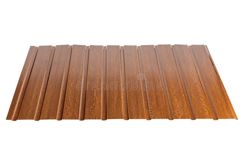 Profieltype van het bladmetaal, modern materiaal voor het dak van huizen stock foto's