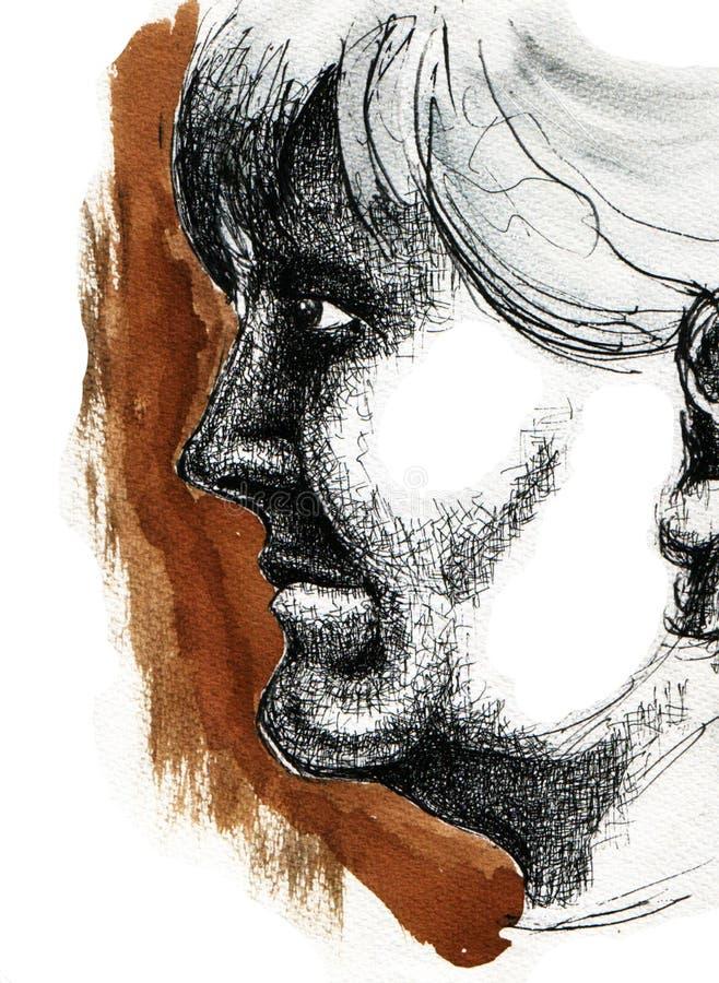 profil illustration de vecteur