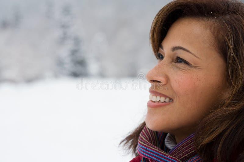 Profil av en mogen kvinna fotografering för bildbyråer
