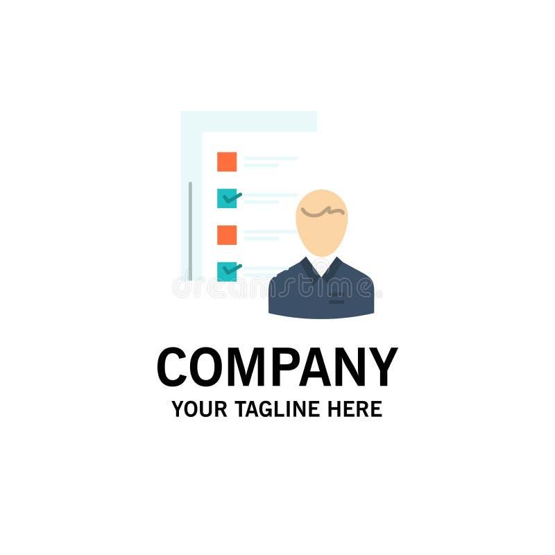 Profil, capacités, affaires, employé, le travail, homme, résumé, affaires Logo Template de qualifications couleur plate illustration libre de droits