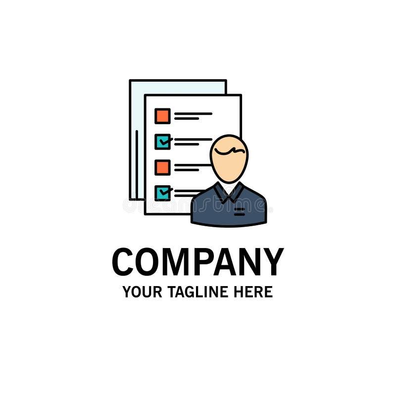 Profil, capacités, affaires, employé, le travail, homme, résumé, affaires Logo Template de qualifications couleur plate illustration de vecteur