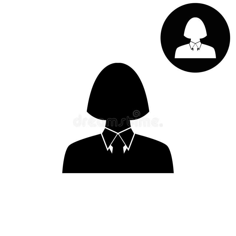 Image Humaine De Profil Icône Blanche De Vecteur