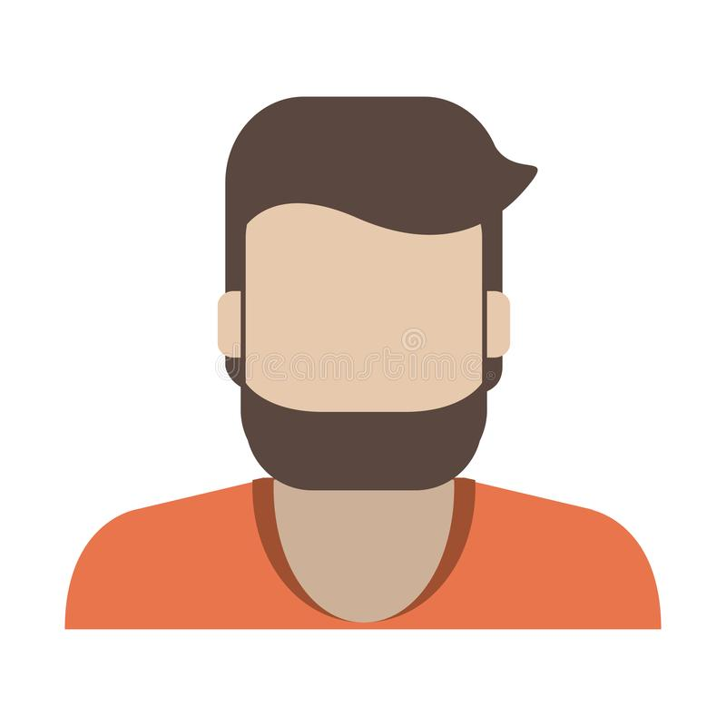 Profil d'avatar d'homme illustration de vecteur