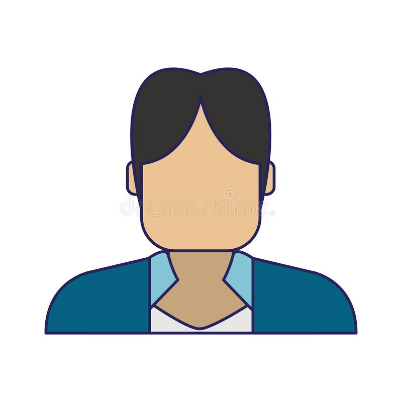 Profil d'avatar d'homme illustration stock