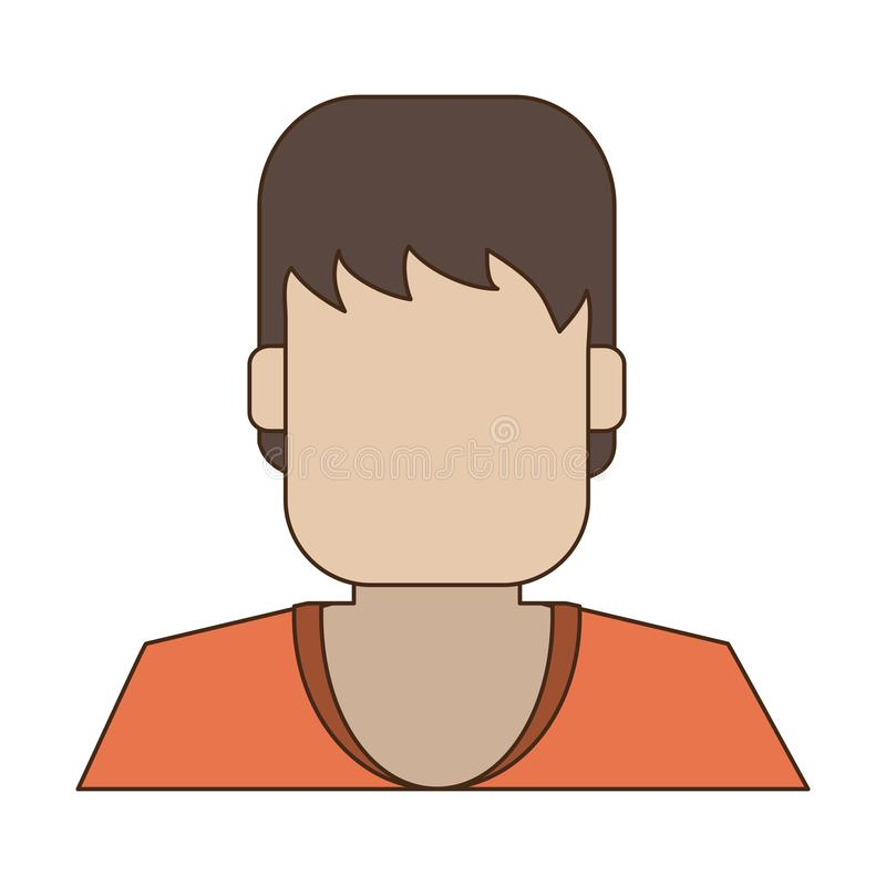 Profil d'avatar d'homme illustration libre de droits
