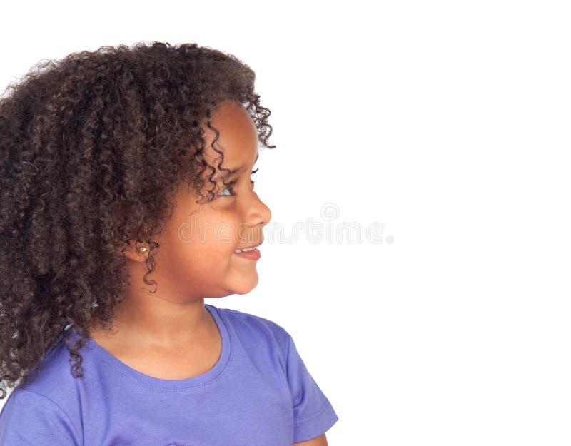 Profil d'enfant d'Africain de beauté photographie stock