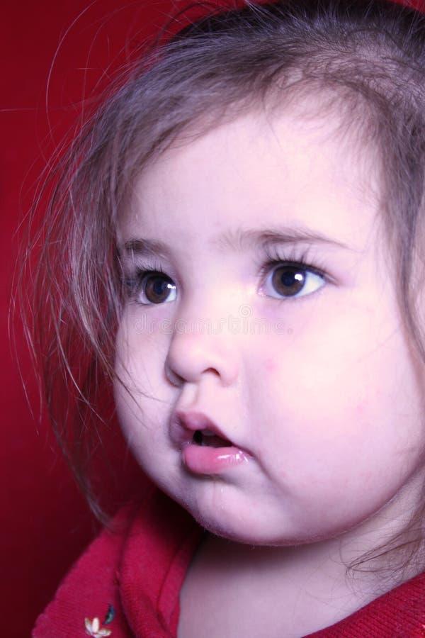 Profil d'enfant en bas âge photographie stock libre de droits