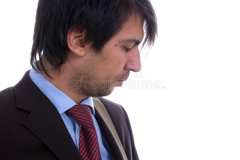 Profil d'homme d'affaires images libres de droits