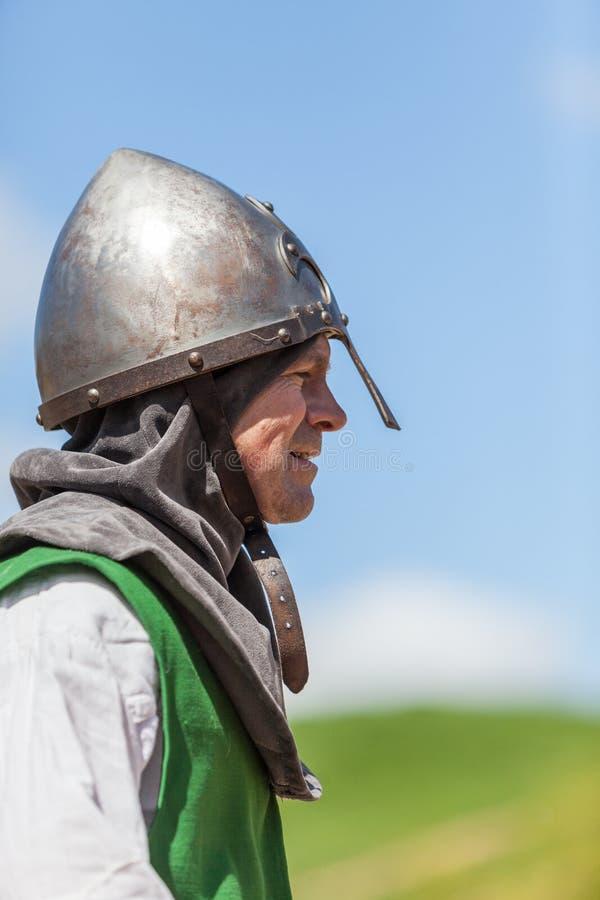Profil d'un chevalier photographie stock