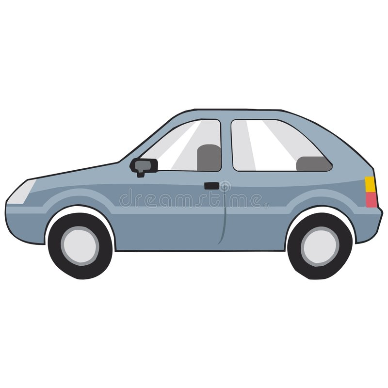 Profil d'un véhicule illustration de vecteur