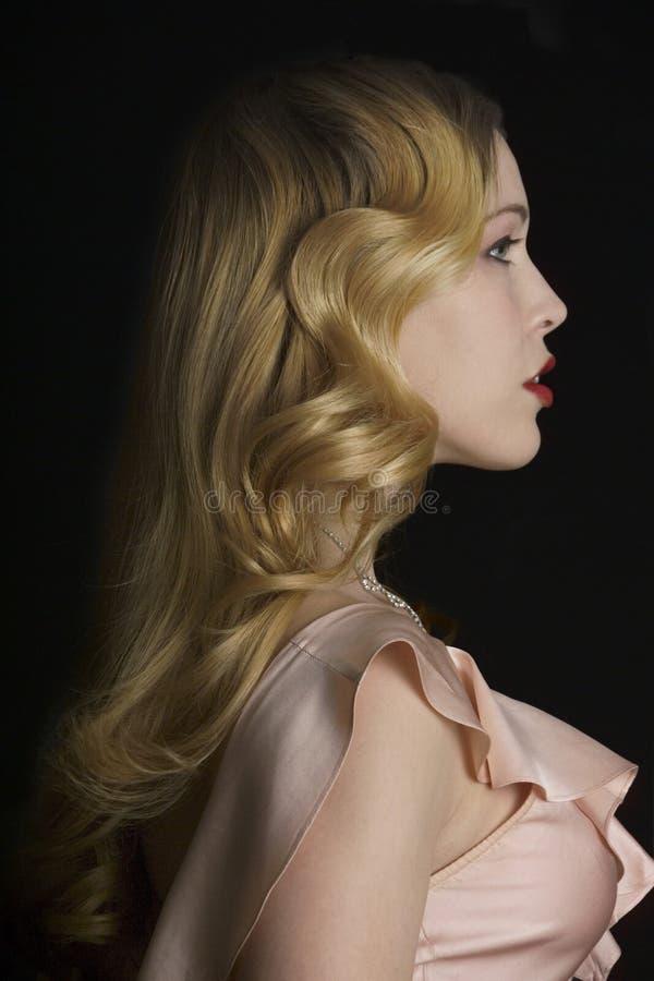 Profil d'une beauté images stock