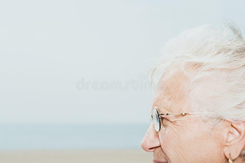Profil d'une femme aînée photographie stock libre de droits