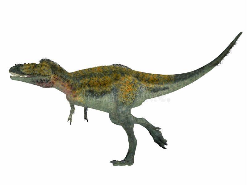 Profil de côté de dinosaure d'Alioramus illustration de vecteur