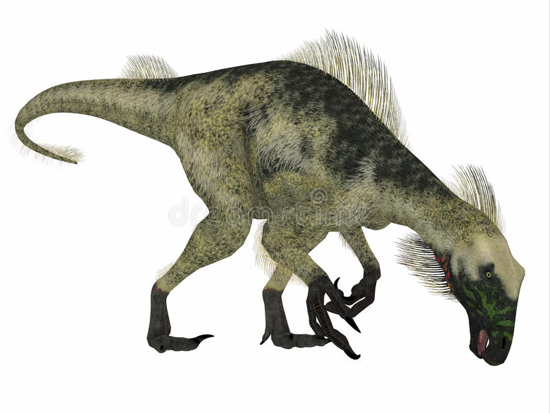 Profil de côté de dinosaure de Beipiaosaurus illustration stock