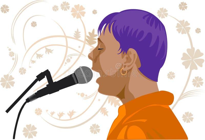 Profil de chanteur illustration stock