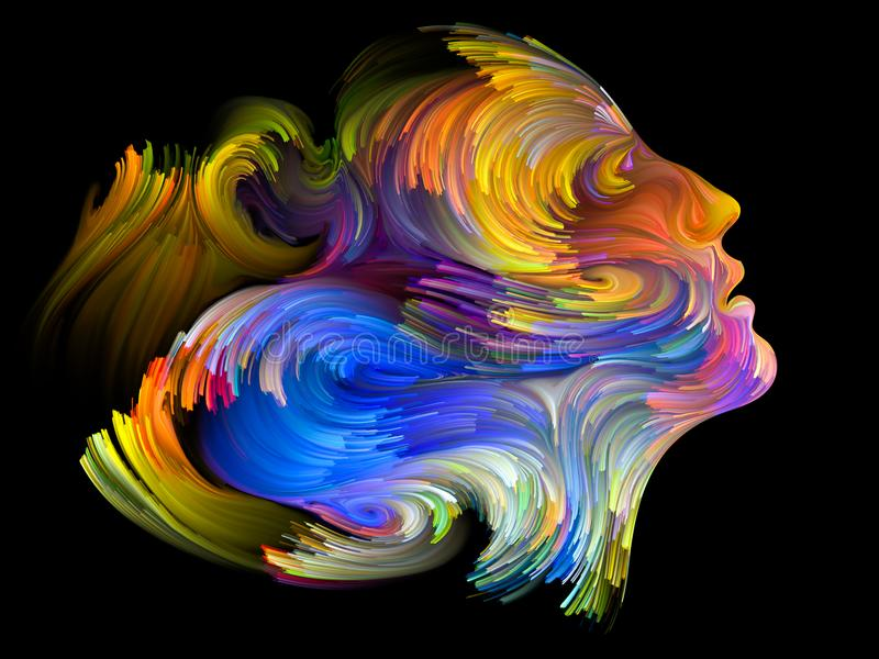 Profil de couleur illustration de vecteur