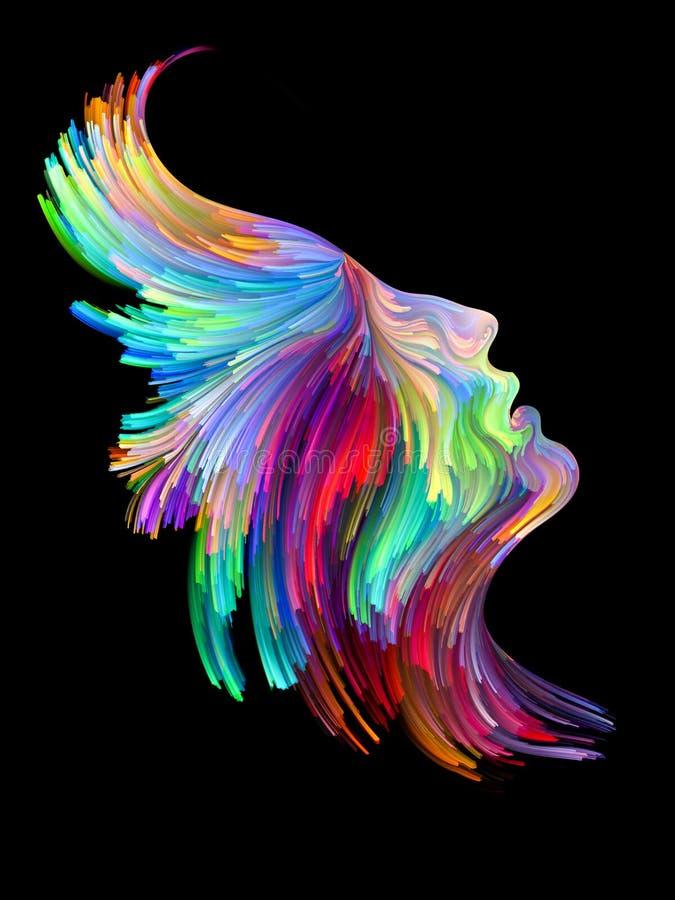 Profil de couleur illustration stock