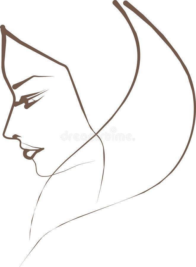 Profil de femme illustration de vecteur