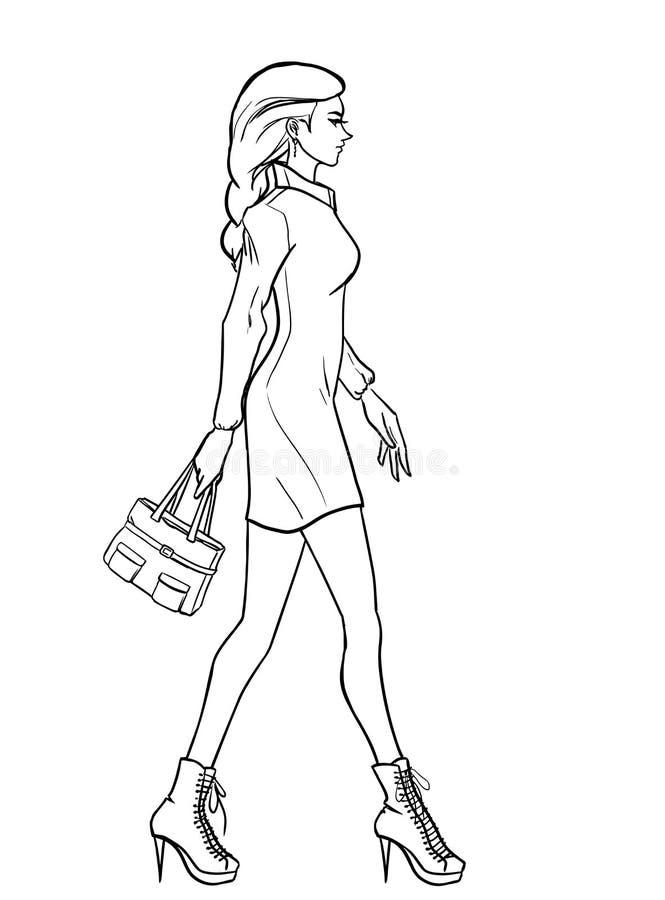 Profil de femme illustration stock