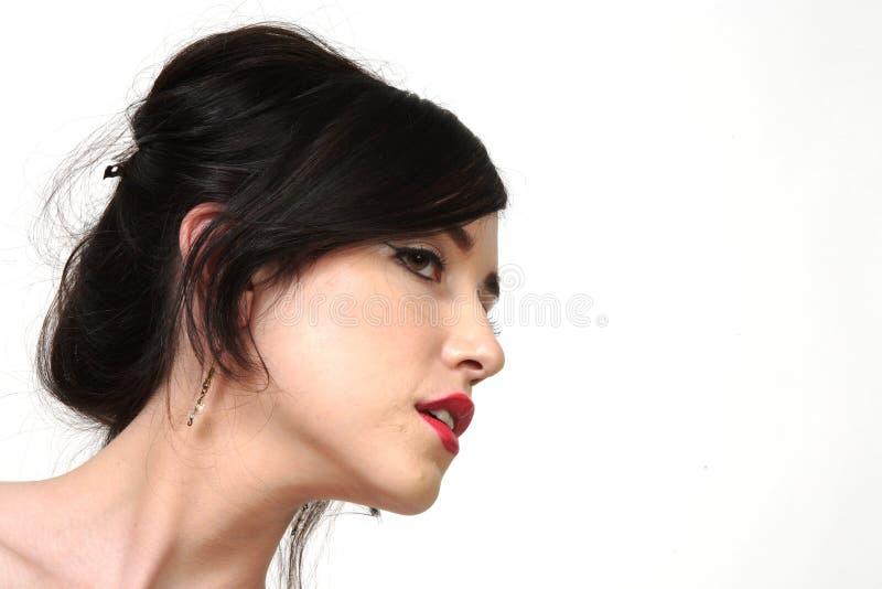 Profil de femme assez jeune photo libre de droits