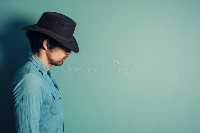 Profil de jeune cowboy photo stock