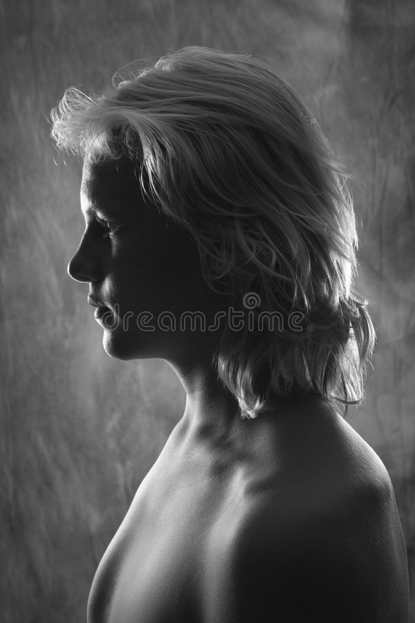 Profil de l'adolescence caucasien mâle photo stock