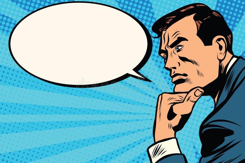 Profil de penseur comique illustration libre de droits