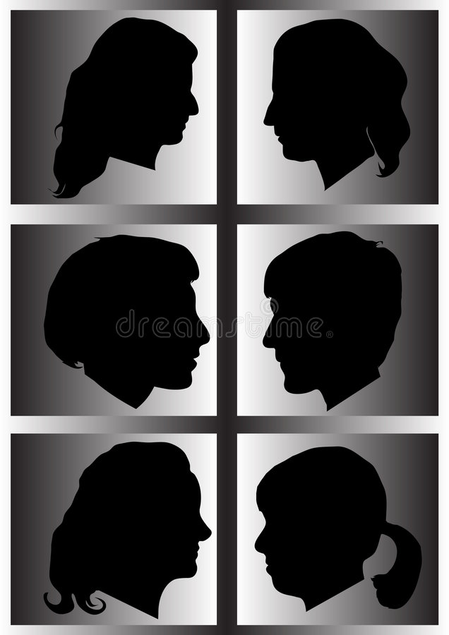 Profil de silhouette de womans illustration de vecteur