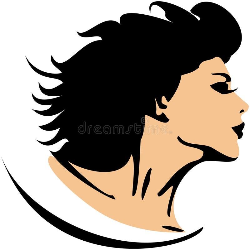 Profil de visage de femme illustration stock
