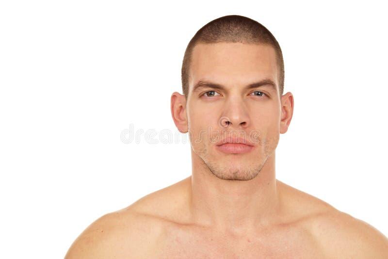 Profil del hombre sin la camisa fotografía de archivo libre de regalías