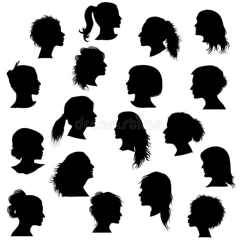 Profil della donna illustrazione di stock