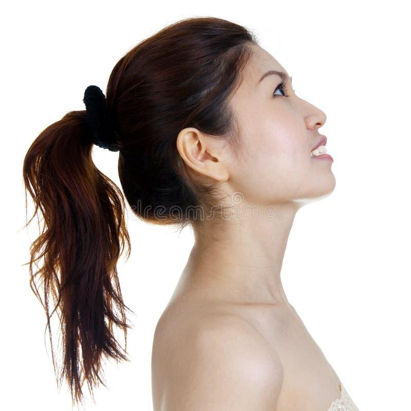 Profil der schönen Frau stockbilder