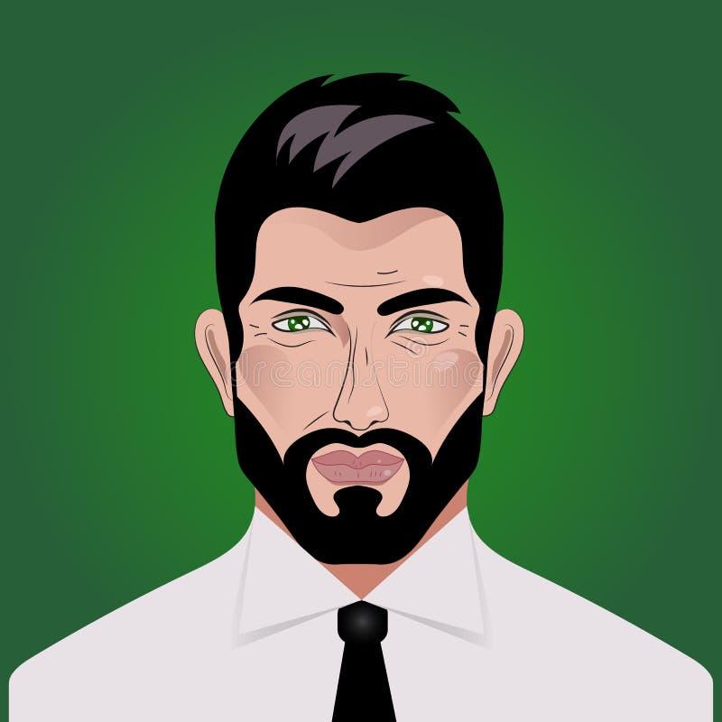 Profil des Geschäftsmannes lizenzfreie abbildung