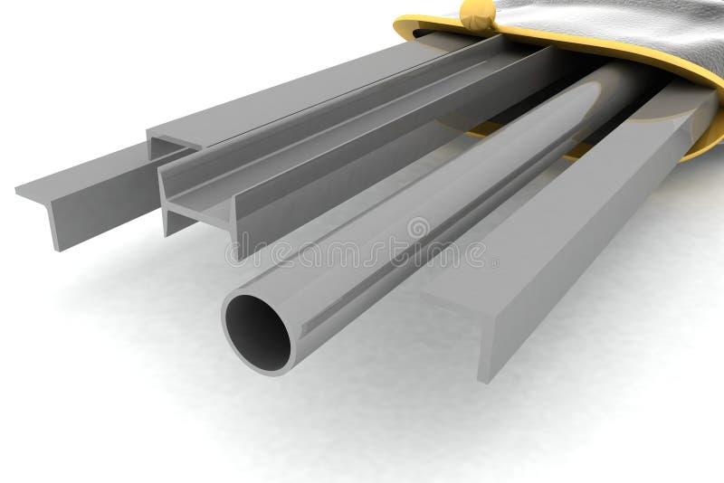 Profil en métal à l'intérieur d'un mensonge de bourse illustration de vecteur
