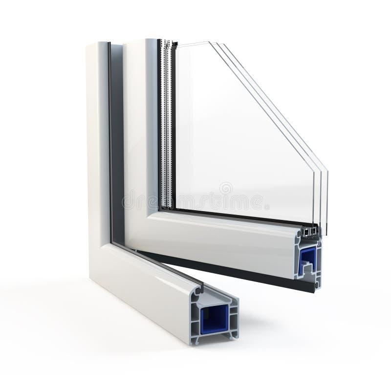 Profil en plastique de fenêtre illustration de vecteur