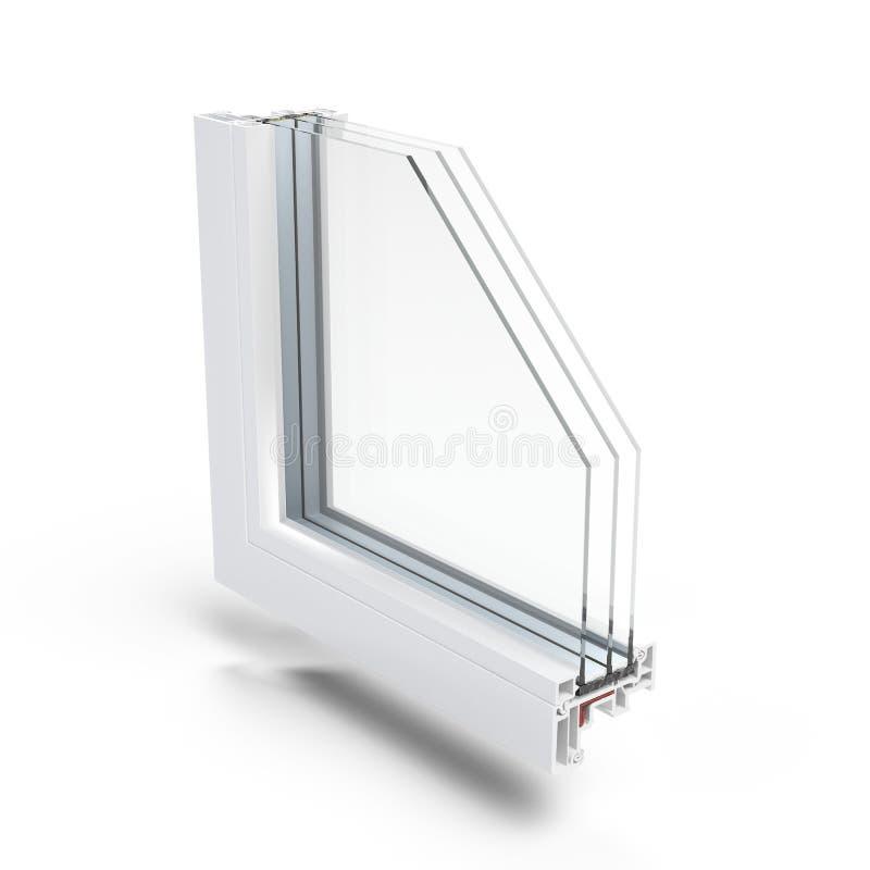 Profil en plastique de fenêtre illustration libre de droits