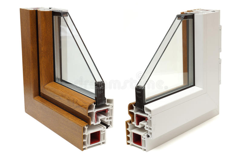 Profil en plastique de fenêtres photo stock